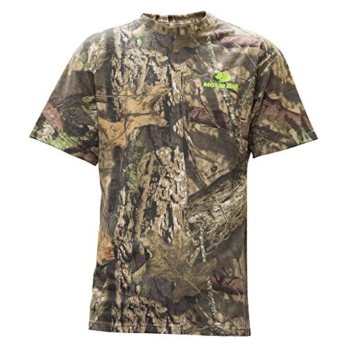 Staghorn Mens All Over Camo Short Sleeve Tee Shirt, Mossy Oak Breakup Country, Large