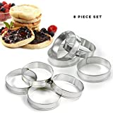 Happy Sales HSMR8, English Muffin Rings, Set of 8