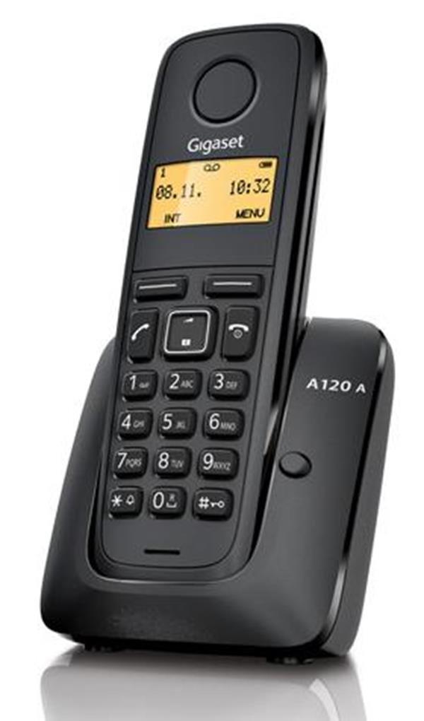 Gigaset A120C - Teléfono fijo, contestador, color negro: Amazon.es: Electrónica