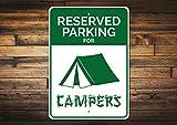 12' x 18' Tin Sign, Metal Sign, Campers Parking Sign Camper Gift Camper Sign Camping Sign Camping Decor Camping Lover Gift Tent Sign Aluminum Sign