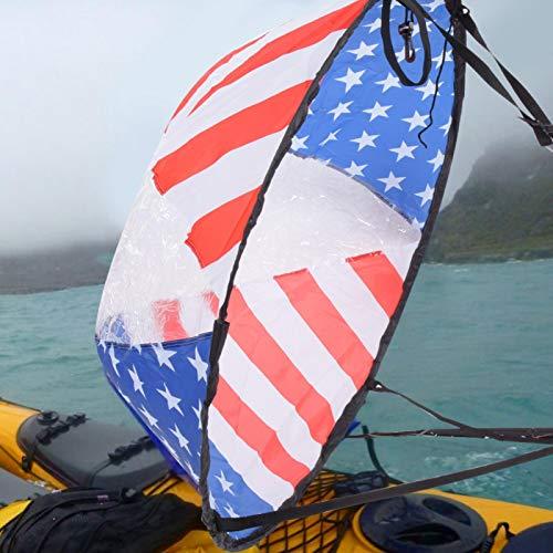 DAUERHAFT Vela de Viento para Kayak Duradera fácil de Usar para canoas para patrón de Bandera de Kayaks
