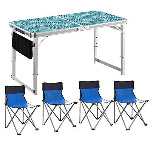 DXX-HR Silla de Mesa Plegable al Aire Libre,portátil,Barbacoa,Camping,autoconducción,Campo,Coche,Mesa de Picnic