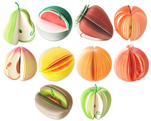 DS. DISTINCTIVE STYLE 10 Styles 3D Fruit Shaped Portable Mini Notes Memo Scratch Pads Paper Notepads