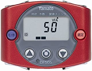 Yamato 歩数計型体脂肪計 ウォーキングミニ レッド DF505R