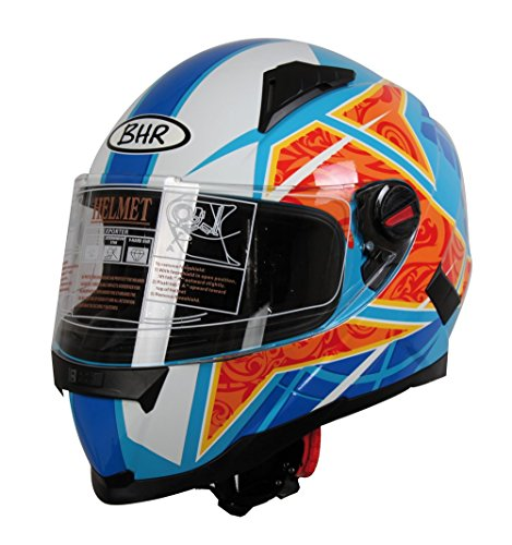 BHR 94090 Casco Integral, Color Azul, Talla M (57/58)