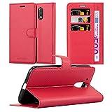 Cadorabo Funda Libro para Motorola Moto G4 en Rojo CARMÍN - Cubierta Proteccíon con Cierre Magnético, Tarjetero y Función de Suporte - Etui Case Cover Carcasa