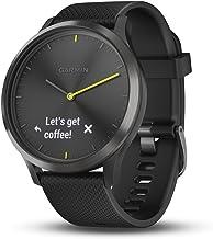 Garmin vívomove HR, Hybrid Smartwatch for Men and Women, Black/Black, Large