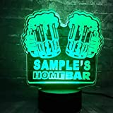 New Bar Pub Beer Table Night Light 7 Color USB Battery Power Charge Luster Home Decor Mood Lava Holiday Friends Giftbaby Night Light Indoor