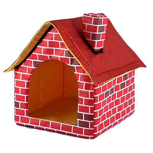IANSISI Casa portátil para perros, cálida y acogedora, caseta para perros, casa para mascotas, animales extraíble, casa de viaje, casas, perreras y bolígrafos