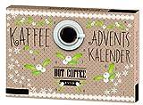 stylischer Adventskalender versüßtdie hektische Adventszeit mitverschiedenen Kaffeevarianten, Gebäck, Aromazucker und weiteremZubehör