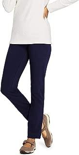 Women's Petite Starfish Mid Rise Slim Leg Elastic Waist Pull On Pants