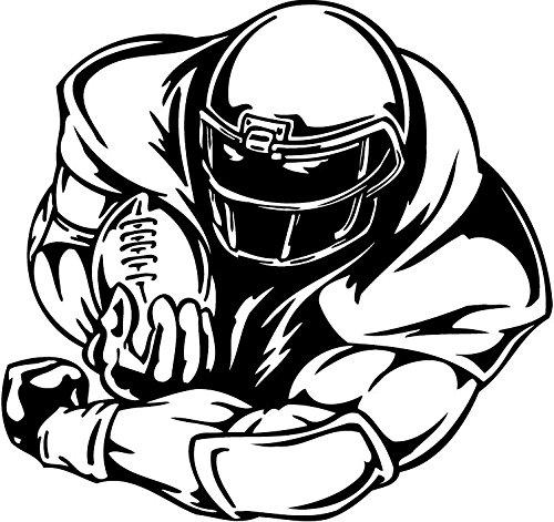 NFL American Football Player Hochwertigen Auto-Autoaufkleber 12 x 12 cm