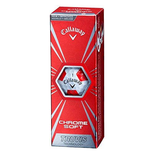 『Callaway(キャロウェイ) ゴルフボール CHROME SOFT TRUVIS 1ダース(12個入り) 2016年モデル ホワイト』の3枚目の画像