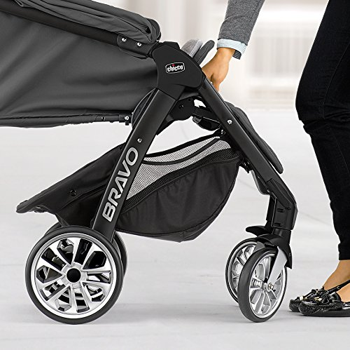 Image of Chicco Bravo LE Quick-Fold Stroller, Coal