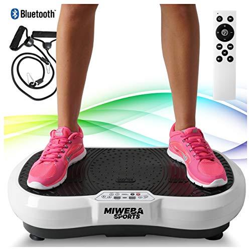 Miweba Sports Fitness 2D Vibrationsplatte MV100-3 multidimensionale Vibrationszonen - Oszillierend - 250 Watt (Weiß)