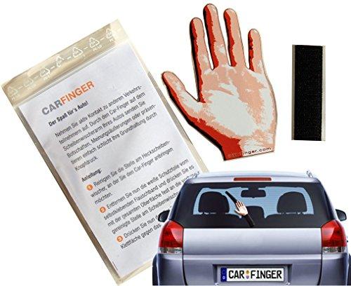 Car Finger Greet ,witziges Auto - Zubehör für den Scheibenwischer - Das ideale Geschenk, macht lange Autofahrten lustig. Das outdoor Kfz tuning Zubehör in Form einer Hand oder eines Finger ist ein Spielzeug für Kinder, Damen und Herren