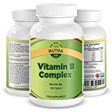Compuesto de Vitamina B, Suplemento de Alta Potencia, Contiene Todas las 8 Vitaminas B, B1, B2, B3,...