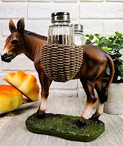 Mule Carrying Saddlebags Figurine Salt Pepper Shakers