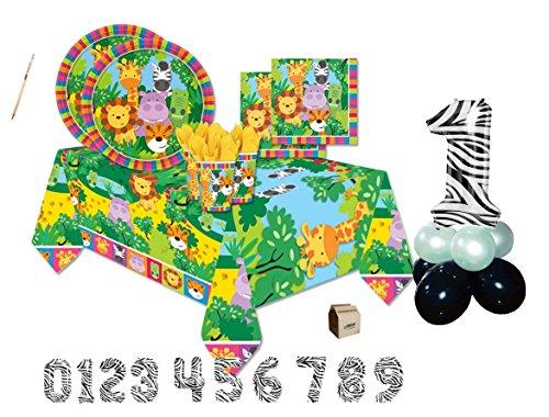 Creative Converting IRPot - Kit N 48 Wild Kingdom Coordinato TAVOLA Compleanno