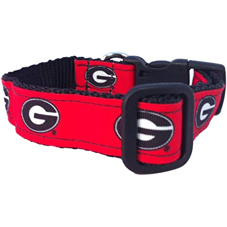NCAA Georgia Bulldogs Dog Collar Team Color, Medium