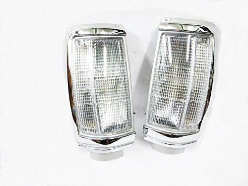 Pair Mitsubishi Cc Mighty Max L200 D50 Colt Me-mj Ute L200 Pickup Corner Lamp Light Lenses Clear