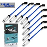 Cable Master 10.2 MM Racing Blue Spark Plug Wires Compatible with LS4 LS2 LS7 LQ9 Escalade Camaro Tahoe Silverado Express Suburban Sierra Yukon H2 Blue Color