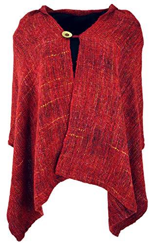 Guru-Shop Ponchoschal, Poncho, Cape Schal, Damen, Rot, Synthetisch, Size:40, Jacken, Mäntel & Ponchos Alternative Bekleidung