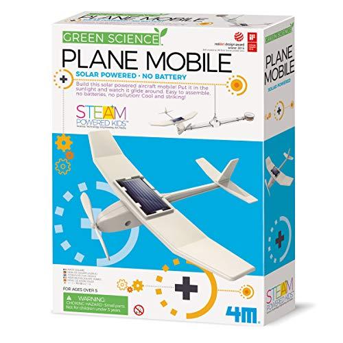 4MKidzlabsGreenScience/Eco-Engineering:Mobile Avion Solaire,Instructionsdétailléesincluses, boîte24x22x6cm, 5+