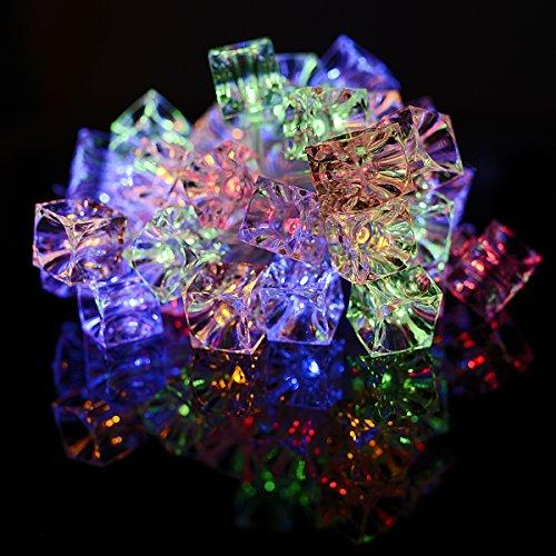 Xcellent Global Guirlande Lumineuse Cube de Glaçon 40 LED à Piles Multi Couleur 2 Modes Pour l'intérieur le Noël la Fête le Jardin Décoration M-LD076