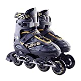 sunflowe Inline Skates, Adjustable Inline Roller Skates For Kids, Teens And Adults, Unisex Outdoor Skating Shoes Roller Blades With Featuring Wheels (82a Rolls) For Skating Beginners
