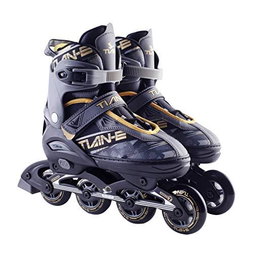 Inline-Skates, Verstellbare Inline-Skates Herren Damen, Rollschuhe Schlittschuhe Rollerblades Für Kinder Erwachsene  82A Rollen   größenverstellbar Von 35 bis 45   Unisex Fitness Skates Für Anfänger