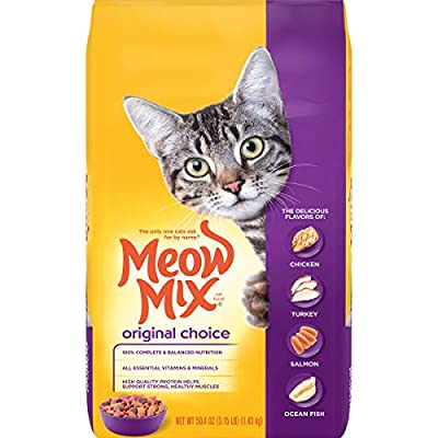 Meow Mix Original Choice Dry Cat Food, 3.15 Pounds (Pack of 4)