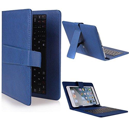 Funda con Teclado para Tablet en español (Incluye Letra Ñ) Huawei Mediapad 10 10.1' - Azul (Teclado Negro)