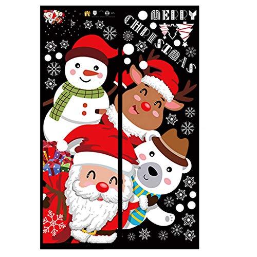 Hlyp Etiqueta Engomada De Santa, Regalo De La Decoración De Navidad Etiqueta, Fiesta De Cumpleaños De La Decoración De Navidad, Diario De Papelería Etiqueta (Color : Style A)