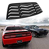 ROUTEKING Rear Window Louver, Rear Windshield Sun Shade Cover for Dodge Challenger 2008-2020 in GT Lambo Style, ABS Material, Anti-Peeping and Shade