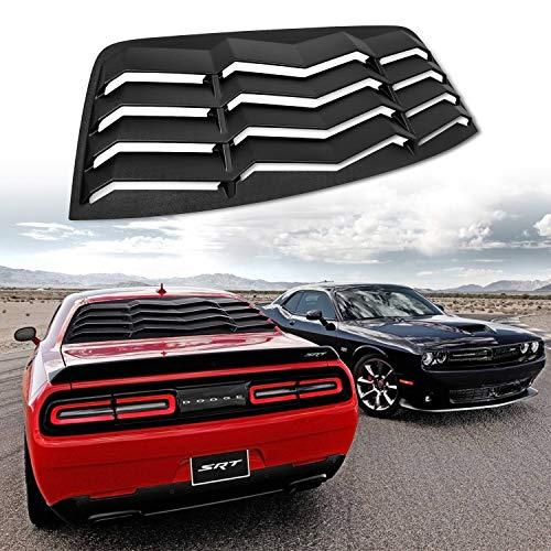 Bishop Tate Car Side Window Scoop Louvers Cover Carbon Fiber Grain Exterior Rear Sun Shade Windshield Decor Trim ABS Accessories 2PCS for Honda Civic Hatchback 2020