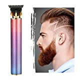 2020 New Electric Pro Li Outliner Hair Clippers Cordless Rechargeable Grooming Kits T-Blade Close Cutting Trimmer for Men 0mm Zero Gap Baldhead Beard Shaver Barbershop Professional (without Oil)