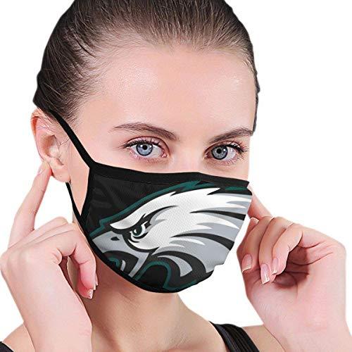 Mundschutz Philadelphia-Eagles Gefilterte atmungsaktive Gesichtsbedeckung Coole Mundhülle für Festivals im Freien Sport Schwarz