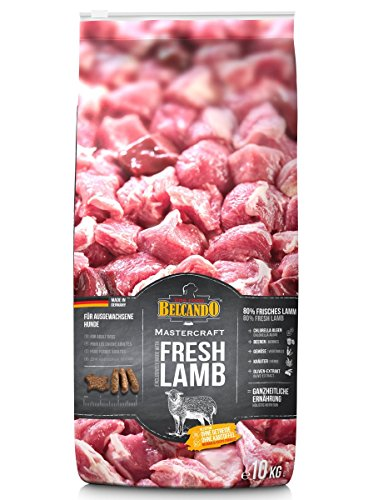 Belcando Mastercraft Fresh Lamb [10kg] Trockenfutter für Hunde | 80% Frischfleisch | Hundefutter getreidefrei | sortenrein | für alle Rassen