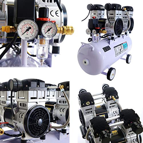 3000W 4PS Silent Flüsterkompressor Druckluftkompressor 65dB leise ölfrei flüster Kompressor Compressor IMPLOTEX - 7