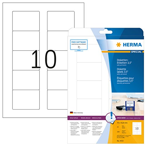 HERMA 4353 Disketten Etiketten 3,5