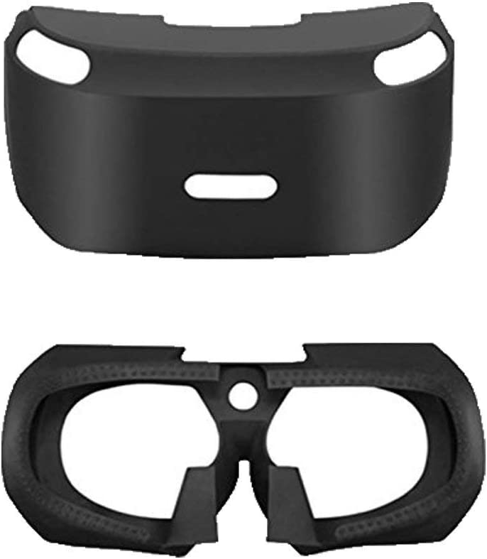 Soft VR Headset Anti-Slip Skin Silicone Rubber Cover Protective Case 3D Eye Shield for Playstation PS4 VR PSVR Virtual Reality Glasses Controller