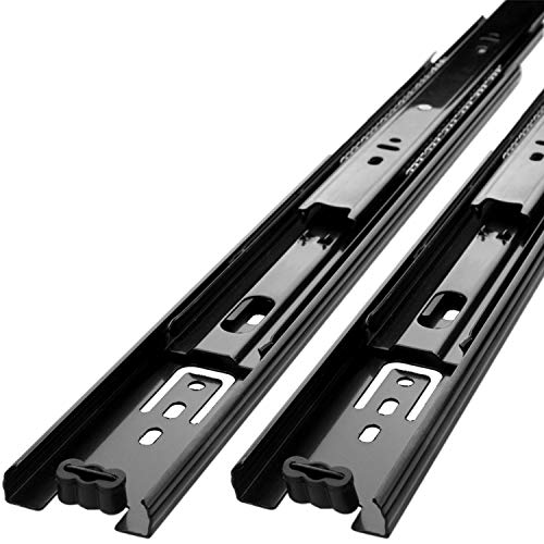 LANIAKEA 3 Pair Drawer Slides 16 Inch Heavy Duty Ball Bearing Full Extension Under-Mount Sliding Drawer Slides