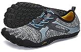 SAGUARO Scarpe Barefoot Minimaliste Uomo Donna Scarpe Multisport per Corsa/Allenamento/Trekking/Trail Running/Palestra/Camminata Scogli Sabbia Acqua - Morbido Comode e Leggere, Grigio, 44 EU