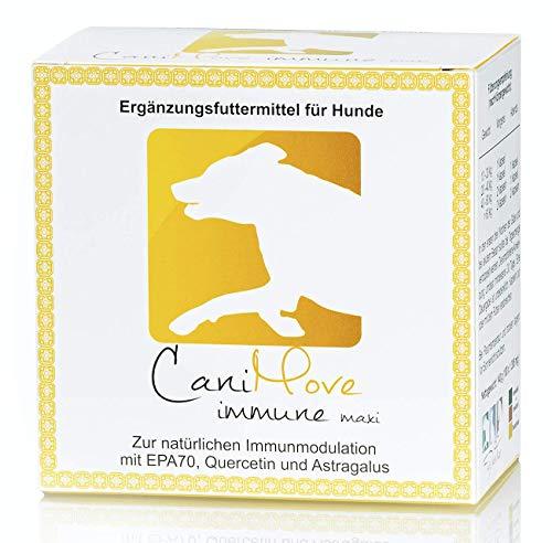 CaniMove Immune Maxi (EPA70 + Tragant + Quercetin), 1 Pkg (100 Kapseln) Ergänzungsfuttermittel für Hunde mit hochkonzentrierter Eicosapentaensäure zur Immunmodulation.
