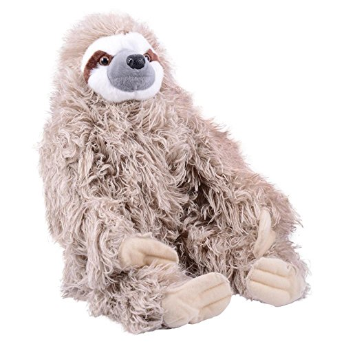 Wild Republic Three Toed Sloth Plush, Stuffed Animal, Plush Toy, Gifts for Kids, Cuddlekins 12 Inches
