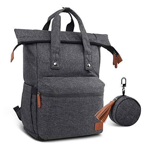 Hafmall Wickelrucksack, Faltbare Große Baby Wickeltasche mit Wickelunterlage, Multifunktional Wasserdichte Reiserucksack