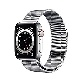 New Apple Watch Series 6 (GPS + Cellular, 40mm) - Silver Stainless Steel Case with Silver Milanese Loop (B08J64YKD6) | Amazon price tracker / tracking, Amazon price history charts, Amazon price watches, Amazon price drop alerts