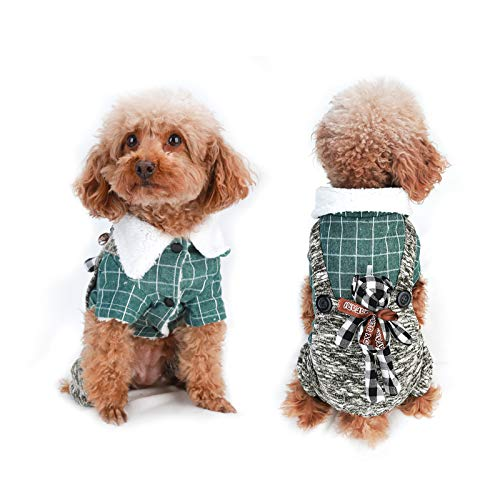 voopet Pet Clothes, Soft Warm Puppy Coat - Fleece Lining Dog Winter Clothes Cold Weather Dog Vest Costume for Small Dogs and Puppies