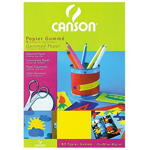 Canson Creative Learning PackGummed paper - Hojas de papel charol,